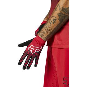 Fox Flexair Foxhead Gloves Men, rojo